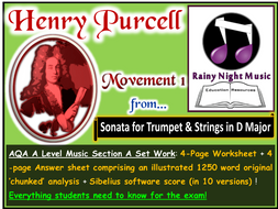 PURCELL SONATA in D MOVEMENT 1 AQA A Level Music Section A