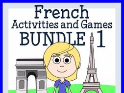 French for Kids 1 - Bundle of 8 French booklets - wks, games and more