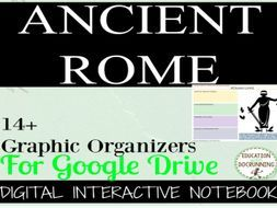 Ancient Rome Digital Interactive Notebook Graphic Organizers for Google Drive