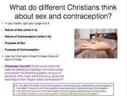 Eduqas Religious Studies Component 1 Relationships Lesson 5 Sex and Contraception FULL LESSON