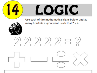 Logic Puzzle 14 of 20 (with solution)