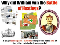 The Battle of Hastings - 5-page full lesson (notes, card sort)