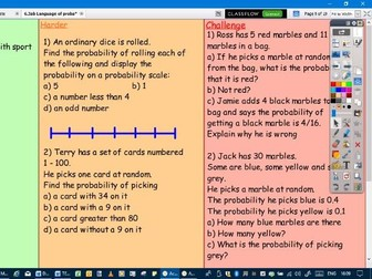 The probability scale