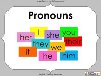 Pronouns - Year 3 and 4
