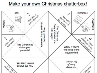 Christmas pack by pencilplayground teaching resources tes for How to make a chatterbox template