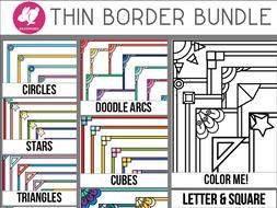 Thin Borders: Big Bundle of Frames