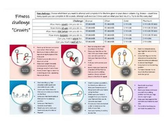 Core PE - Lockdown fitness resource - Circuit fitness