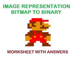 Image Representation - Bitmap - Binary worksheet with answers