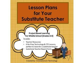 Lesson Plans for Your Substitute Teacher