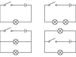 Useful Science or Physics worksheets on Circuits for Key Stage 2 And 3