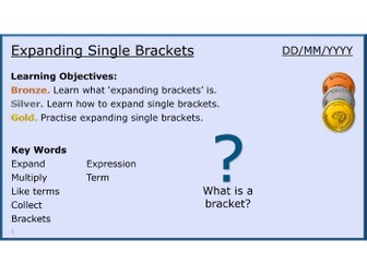 Algebra 15/31 Expanding Single Brackets