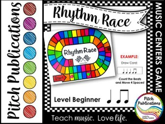 Music Centers: Rhythm Race Counting Level Beginner - Rhythm Game and Practice