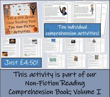 UKS2 Literacy - Macbeth Reading Comprehension Activity