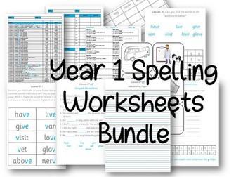 Year 1 Full Spelling Curriculum