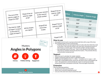 Angles in Polygons (Mystery)