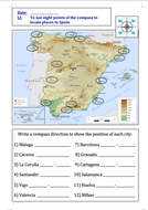 Using-8-points-of-a-compass-to-locate-places-in-Spain---LA-activity.doc