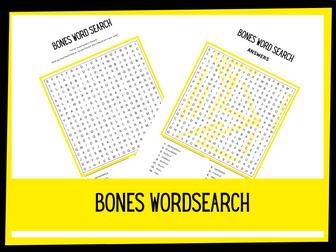 Bones wordsearch