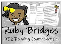 LKS2 History - Ruby Bridges Reading Comprehension Activity