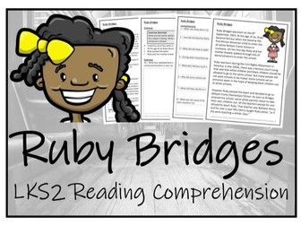 LKS2 History - Ruby Bridges Reading Comprehension Activity