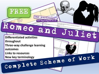 Romeo and Juliet Scheme of Work