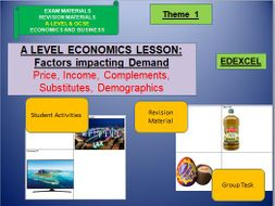 Demand Group Task: A Level Economics; A Level Business