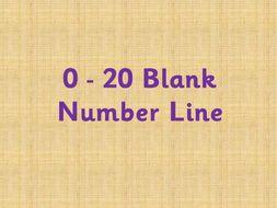 0-20 blank numberline