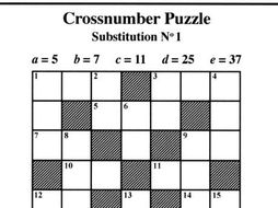 Substitution No1 (Crossnumber Puzzles) by mistercorzi1