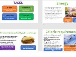 Energy, diet, nutrition an hydration GCSE PE