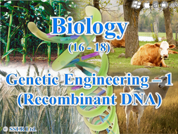 3.8.4.1 Recombinant DNA Technology - 1 (Genetic Engineering) Vectors, Plasmids/Transgenics/Pharming