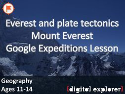 Everest and plate tectonics #GoogleExpeditions Lesson
