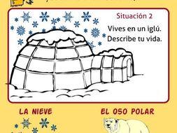 Spanish Creative Writing * Escribir * Presente de Verbos Regulares AR,ER,IR en español
