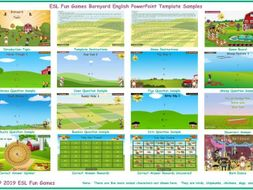 Barnyard English PowerPoint Game Template-An Original by ESL Fun Games