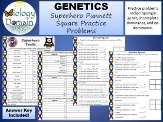 Superhero Genetics: Punnett Square Practice Problems