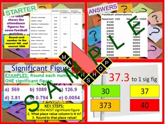 Rounding Significant Figures and Estimation (2 Lessons)