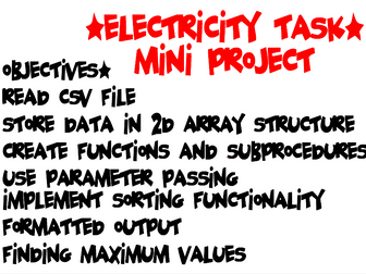 [GCSE+IGCSE] Mini Course work project with Video and Solution Computer Science
