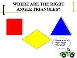 Finding Right Angle Triangles