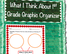 what i think about 1st grade graphic organizer by