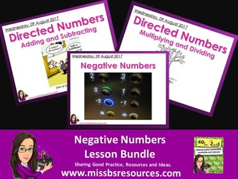 Series of Lessons - Negative numbers Bundle