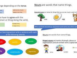 Word Types - Presentation and Worksheet - KS2 SATS SPAG - KS3/4 revision
