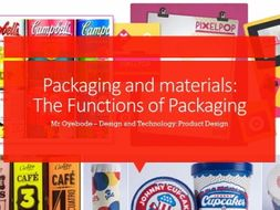 Packaging and materials: The Functions of Packaging
