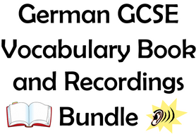 German GCSE Vocabulary Book with Recordings