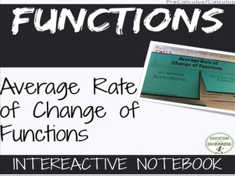 Average rate of change of functions for Pre-Calculus