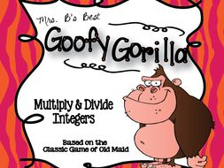 Goofy Gorilla Card Game: Multiply and Divide Integers