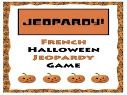 gcse french french halloween jeopardy game halloween franais