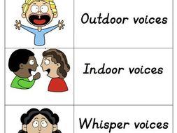 Classroom Voices - Noise control visual