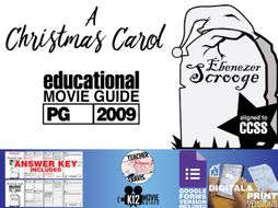 A Christmas Carol Movie Viewing Guide | Questions | Google Forms (PG - 2009) | Teaching Resources
