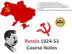 IB Authoritarian States Stalin's Russia Entire Course Notes - 36 pages