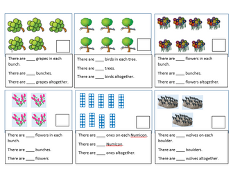 Week 1 planning and resources to support Year 1 White Rose Hub Summer Block 1 Multiplication and Div