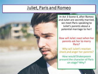 Romeo and Juliet Paris and Act 3 Scene 4/5