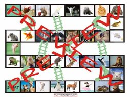 Animals Chutes and Ladders Board Game